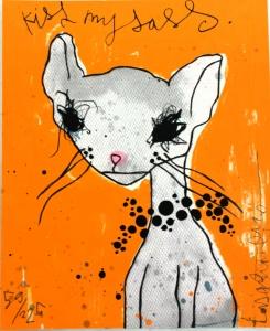Kiss my Sass, inramad litografi av Lisa Rinnevuo, värt 1000kr lottas ut hösten 2015